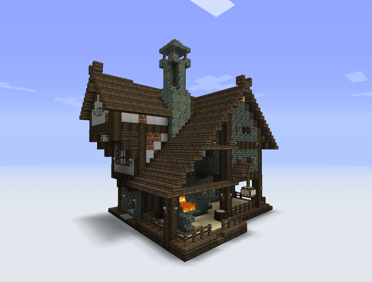 Cool minecraft houses on pinterest minecraft houses for Minecraft home designs