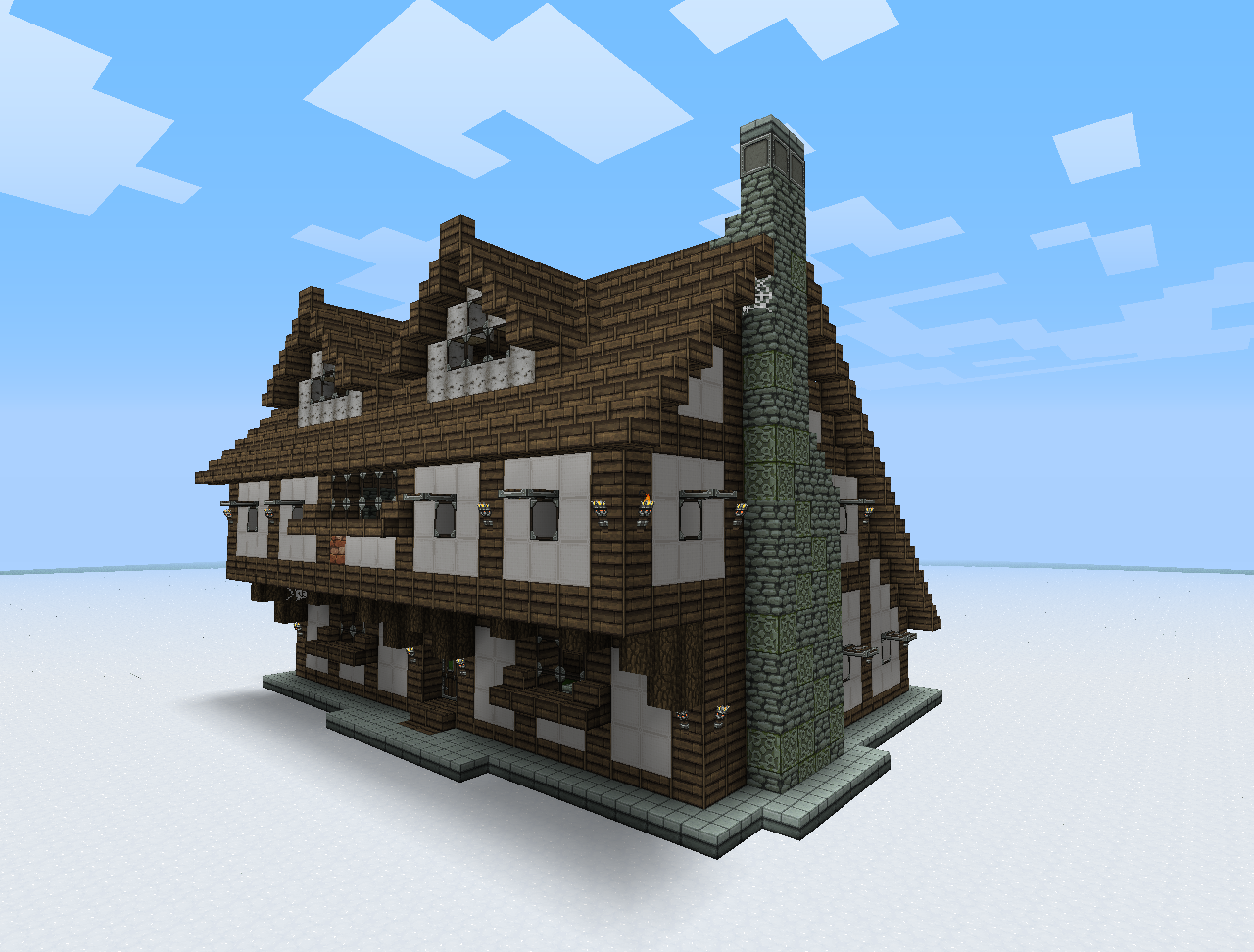 Minecraft constructions creatives constructions antiques medievales - Construction minecraft maison ...