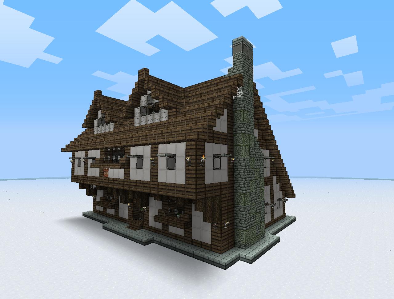 Minecraft derni res news 1 8 des rivi res et des villages medi vaux - Maison minecraft design ...