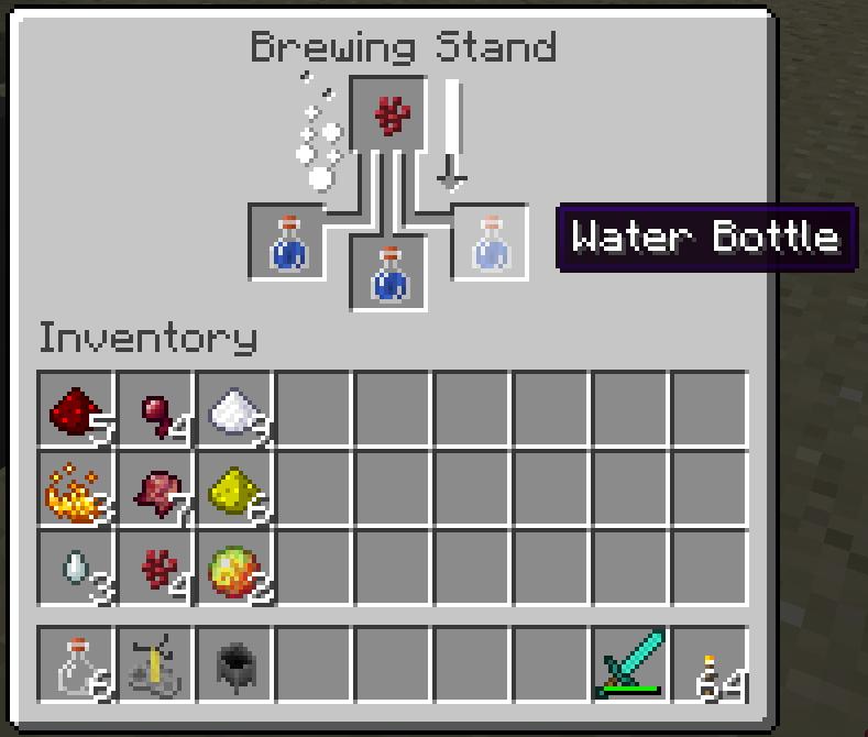 minecraft : faire sa première potion