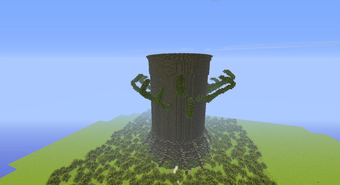 les planets et arbres danc minecraft