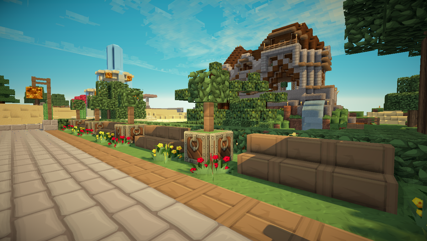 Four corners city page 1 vos projets forum for Minecraft jardin