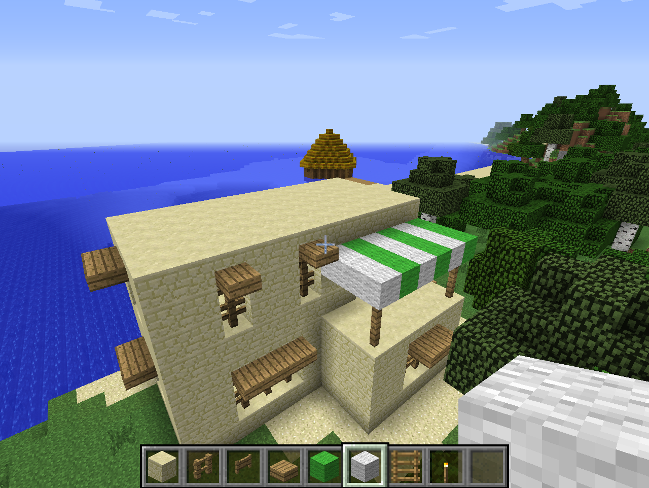 Minecraft comment cr er une maison arabique tr s - Maison simple a construire ...