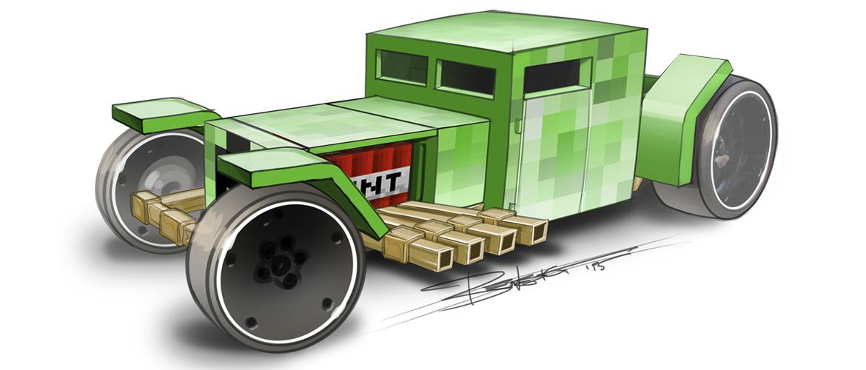 minecraft derni res news les petites voitures minecraft hot wheels. Black Bedroom Furniture Sets. Home Design Ideas