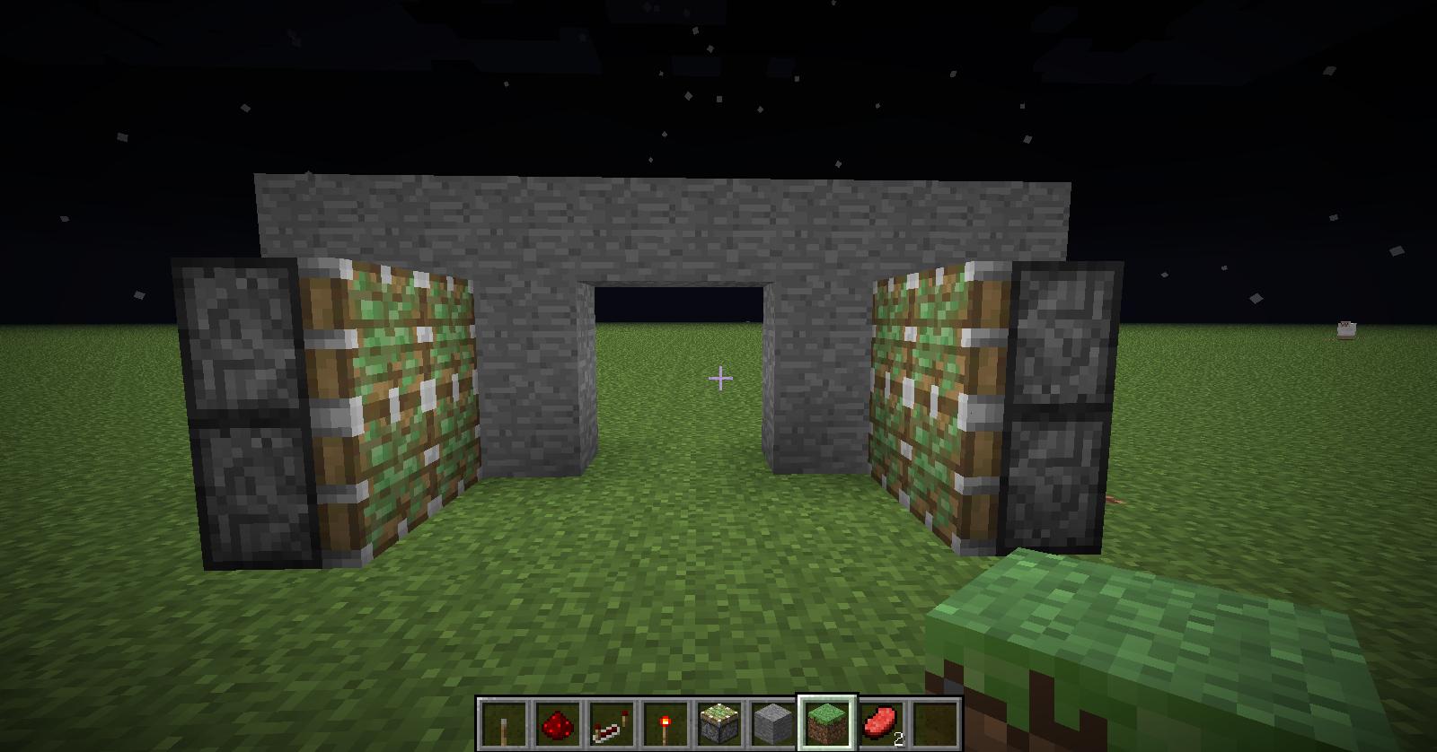 Minecraft avoir une passage secret dans un mur for Porte and minecraft