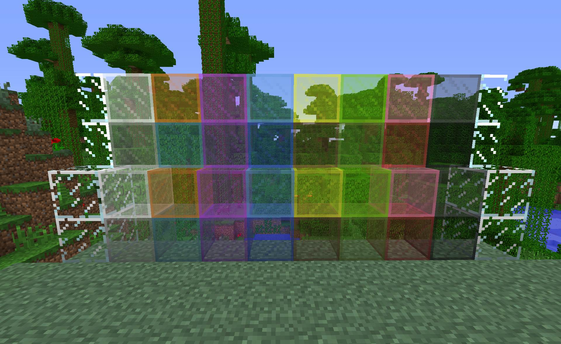how to make colored glass in minecraft pc