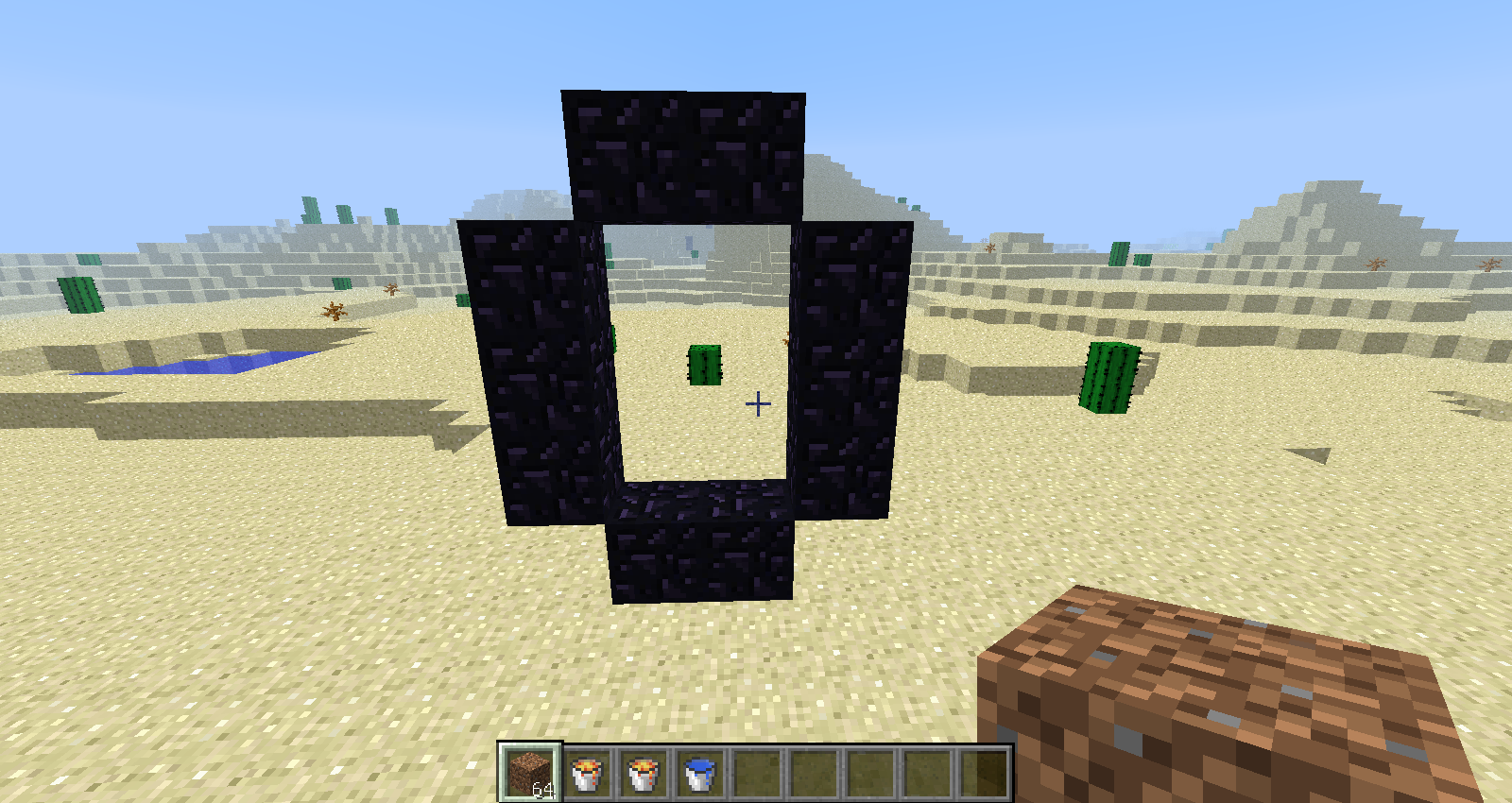 Minecraft cr er une porte du nether sans pioche en diamant for Porte and minecraft