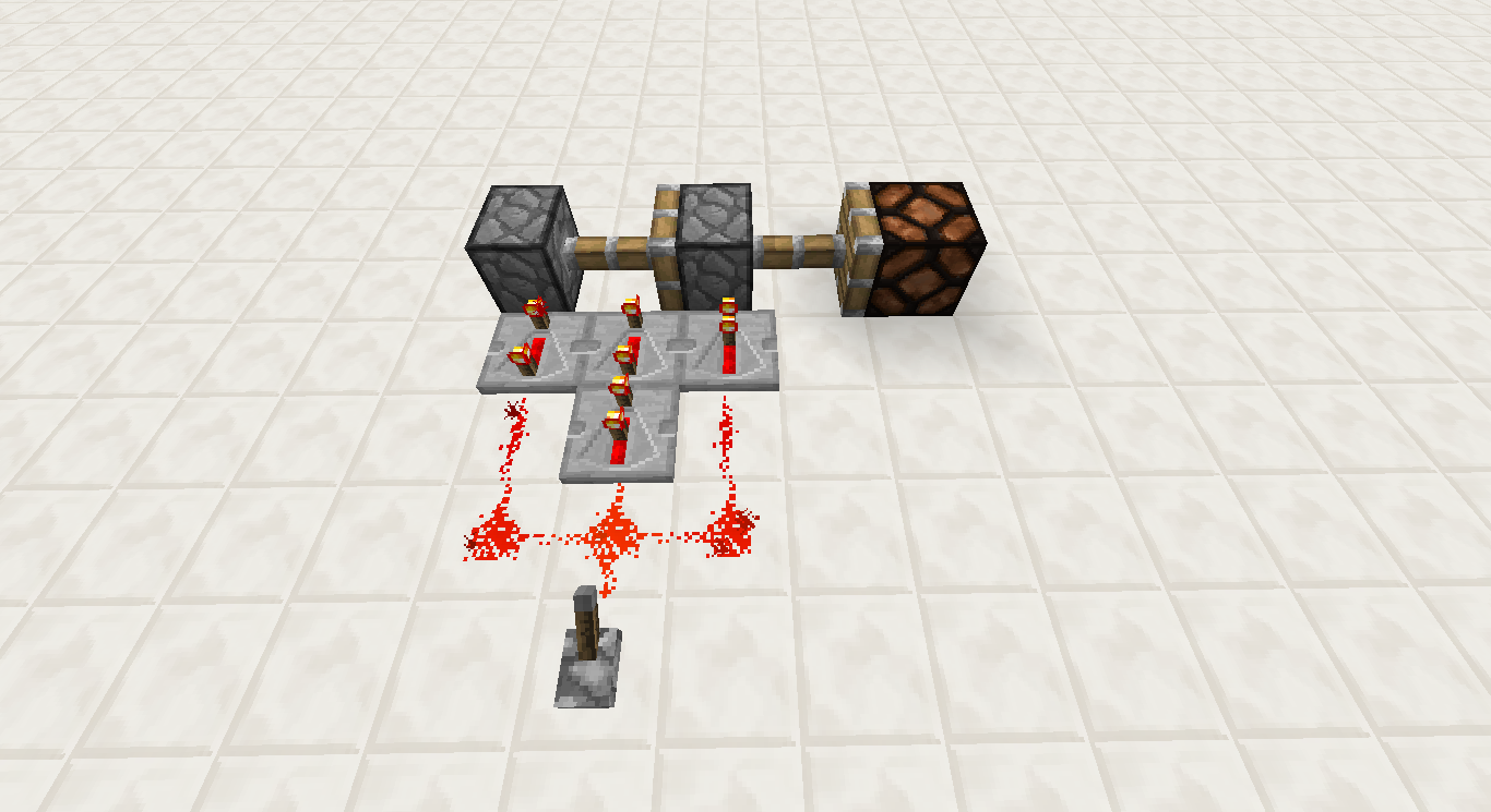 minecraft   redstone   faire un piston extender
