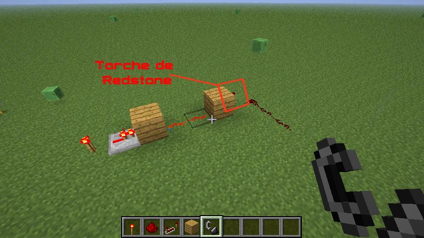 Minecraft faire une m che de redstone - Reste de bois brule synonyme ...