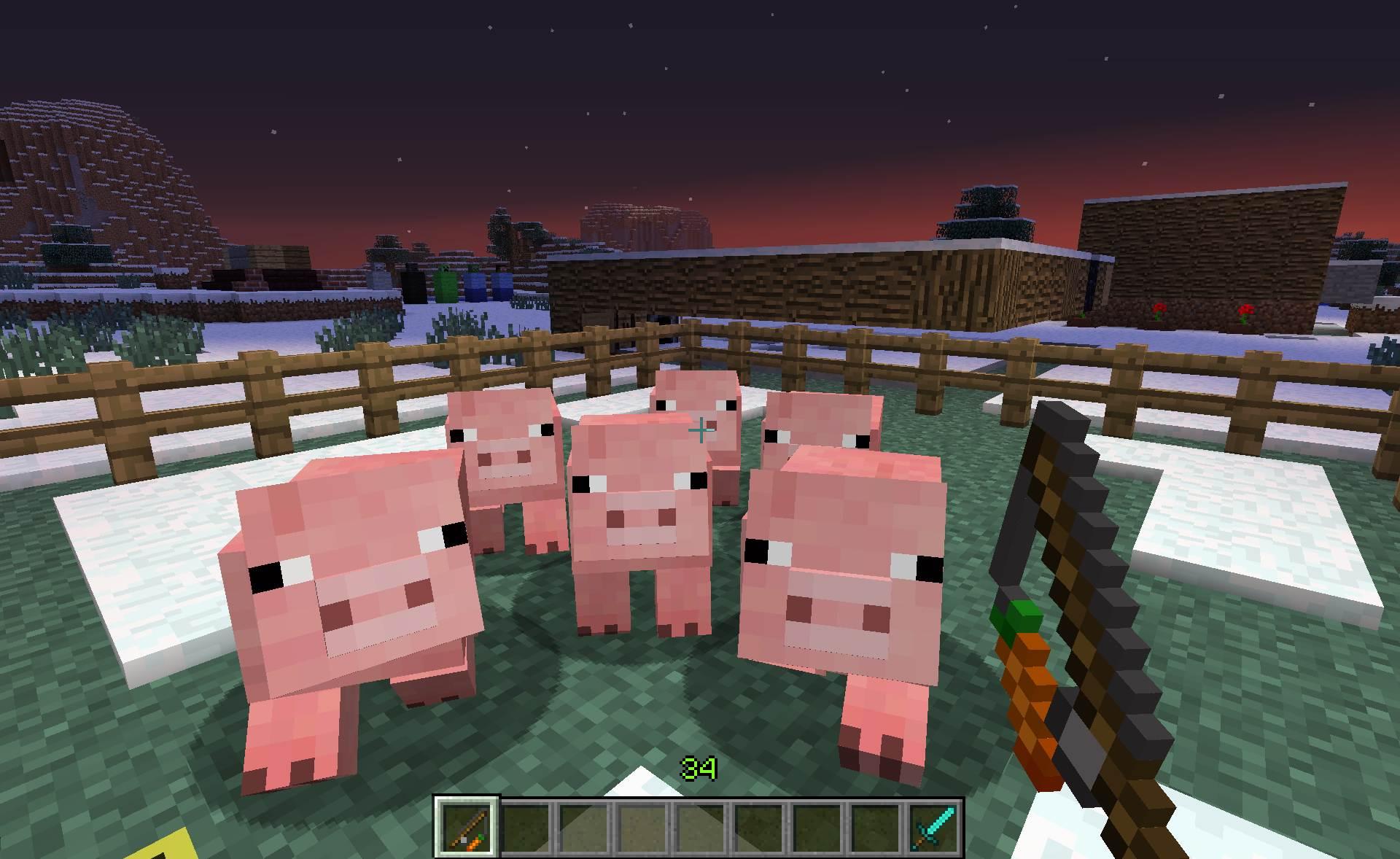 Minecraft derni res news snapshot 12w36a de nouveaux mobs et une date de sortie - Minecraft cochon ...