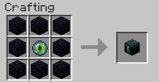 Ender Chest Crafting Recipe