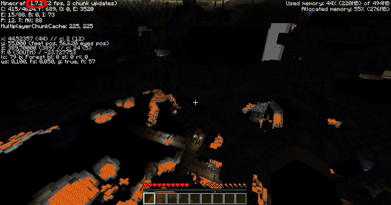 comment voir a travers les murs minecraft 1.8