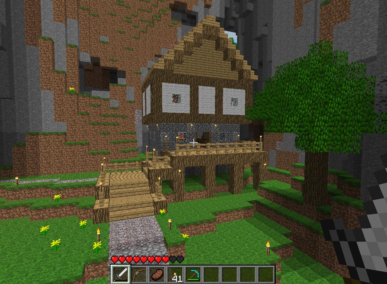 Minecraft derni res news 1 8 des rivi res et des villages medi vaux - Minecraft exemple de maison ...