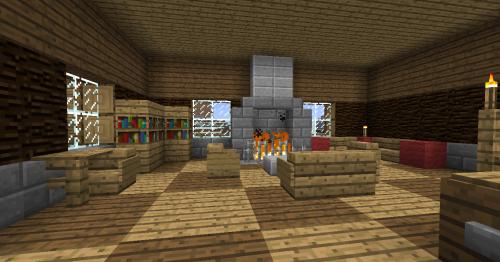Minecraft Belle Maison En Bois. Good Grande Maison Moderne ...