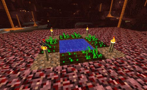 how to get to the nether in minecraft creative mode