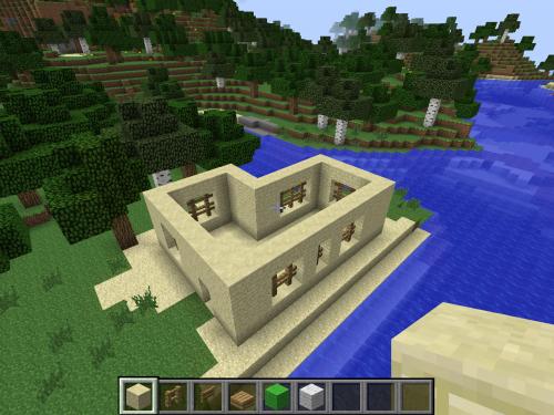 Minecraft comment cr er une maison arabique tr s facilement - Comment faire une maison de luxe sur minecraft ...