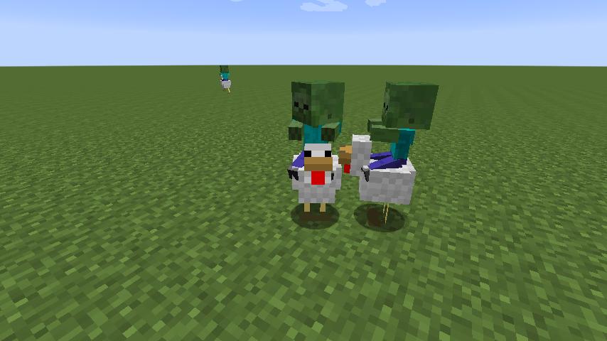 Snapshot 13w49a ajout des chickens jockey fr minecraft - Poule minecraft ...