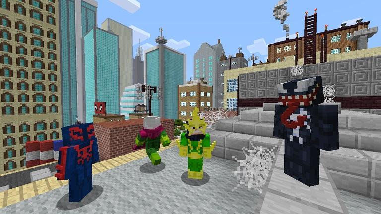 Morbius Marvel >> Minecraft Xbox 360 : Un pack de skins Spiderman. FR-Minecraft