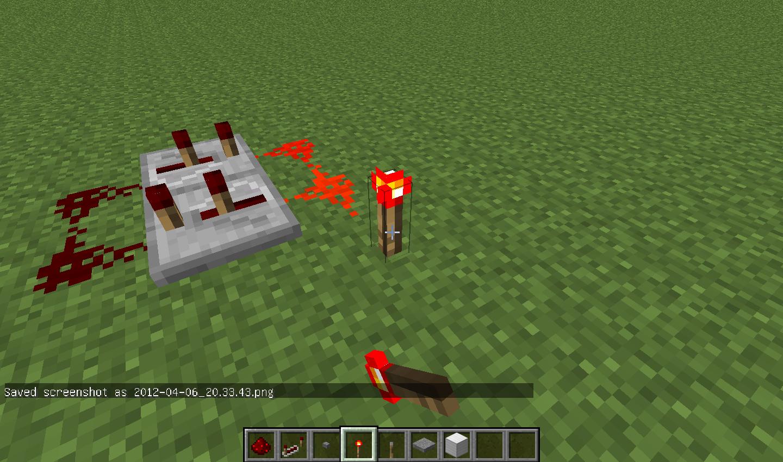 Minecraft Redstone Qui Sactive Desactive En Continue Circuits Puis Placez Un Objet Permettant Lalimentation De La Ici Jai Choisi Une Torche Mais Bouton Ferais Aussi Laffaire