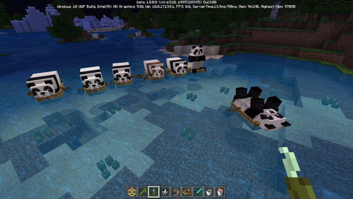 Minecraft bedrock 1 8 les pandas et les chafaudages fr - Poule minecraft ...