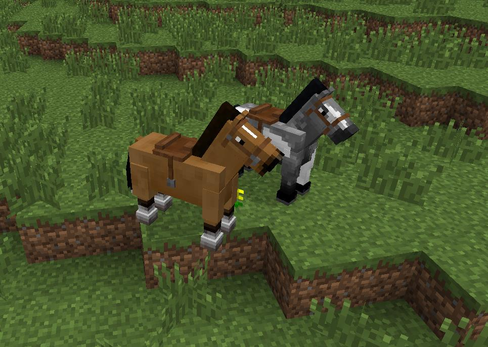 M j snapshot 13w16a le test complet fr minecraft - Cheval minecraft ...