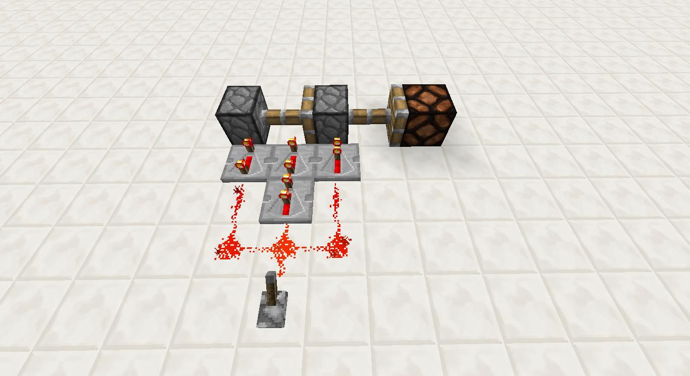 minecraft redstone   faire un piston extender