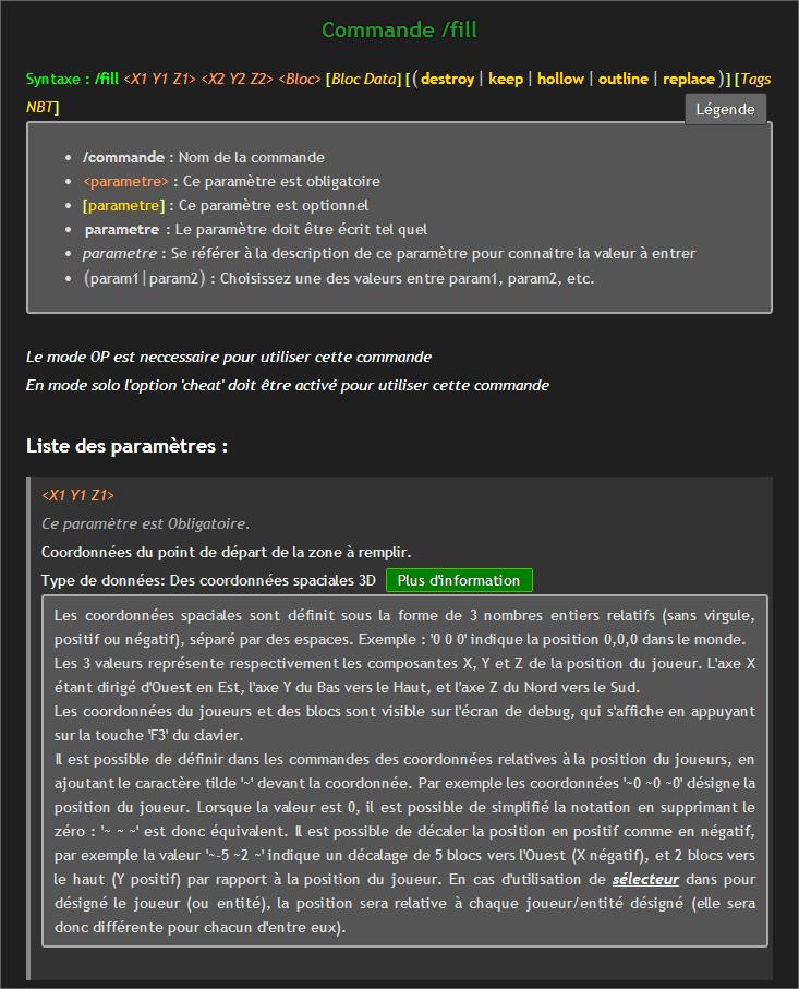Tous les secrets des commandes sur FR-Minecraft net  FR-Minecraft