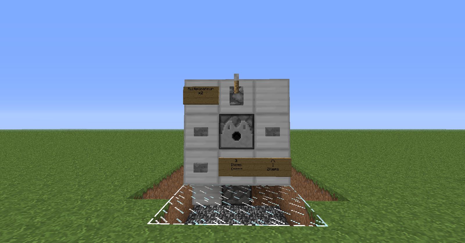 Minecraft dispenser et distribution d 39 item par groupe for Construction de maison sur minecraft