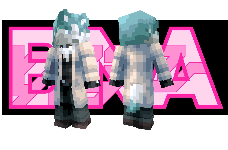 Shirou Ogami (Wolf form) Minecraft Skin